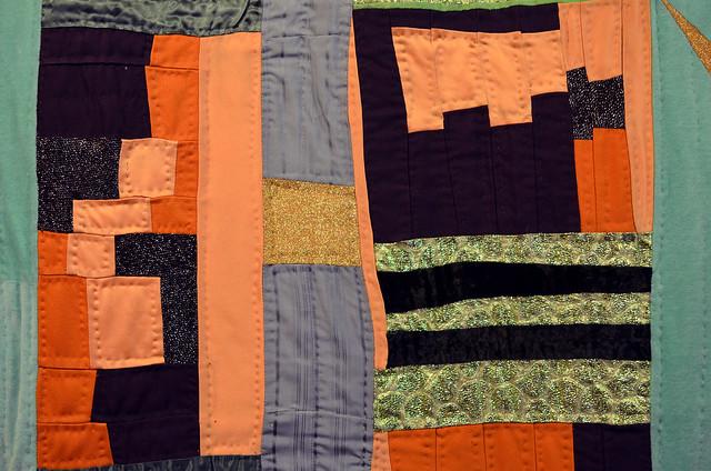 Improv quilt by Eli Leon - detail