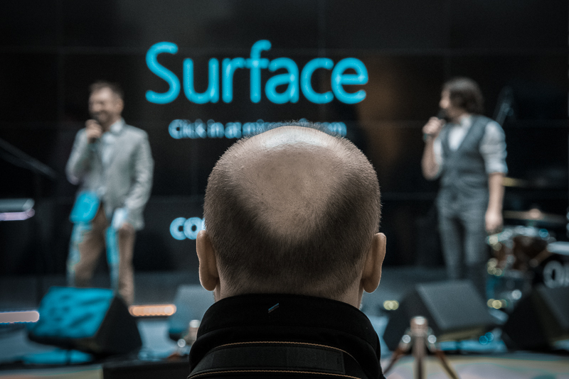 Microsoft Surface presentation in Moscow