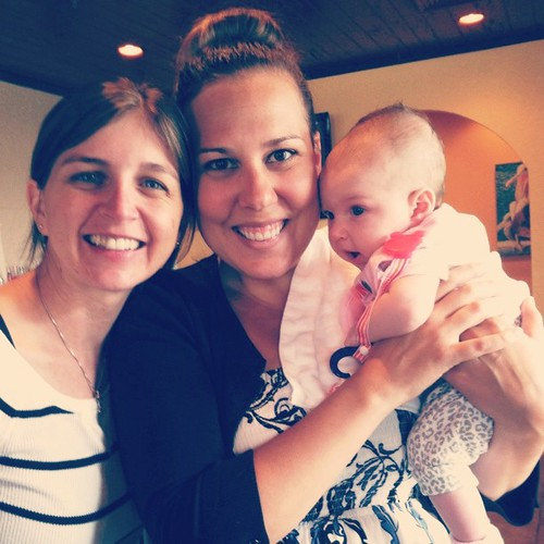 Meeting baby Olivia and catching up her momma :) Just beautiful!! @erinedmondson @mainlybananas