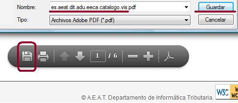 Guardar pdf del certificado