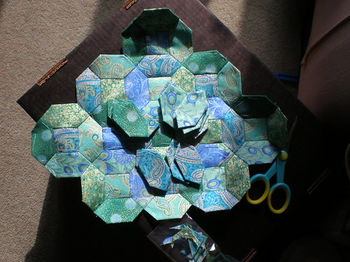Paper Pieced Patchwork in Progress
