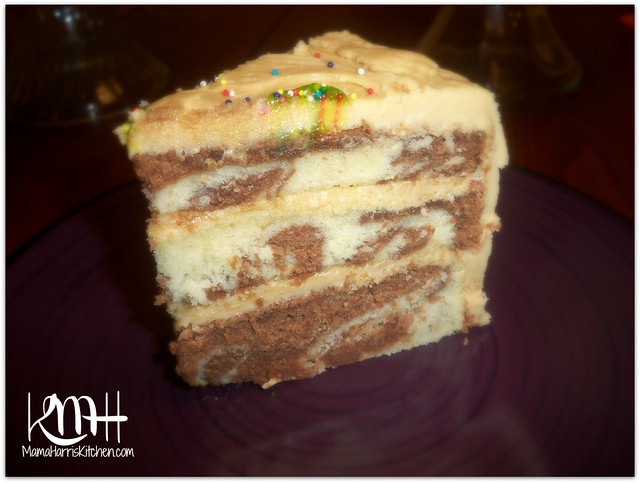 Marble Cake With Caramel Frosting Mama Harris Kitchen