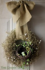 nest in wreath