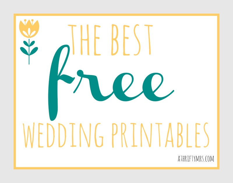 the best free wedding printables a thrifty mrs