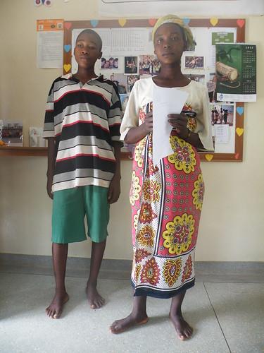 Cosmas with mother Kalama