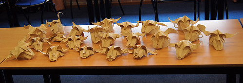 Origami Cow's Skulls (Román Diáz)