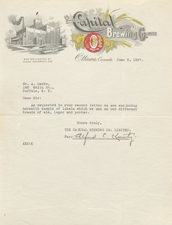 Capital Brewing Co. Stationery