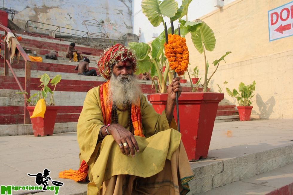 A posing sadhu in Varanasi