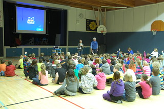 Caroline Adderson at Crescent Park Elementary in Dawson Creek