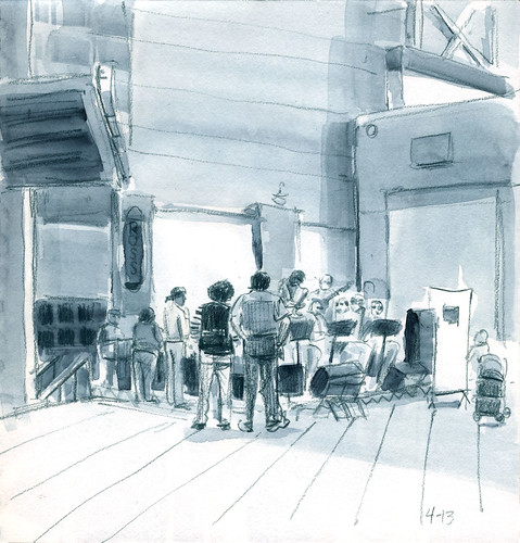 39th Worldwide Sketchcrawl...Burbank Jazz Band