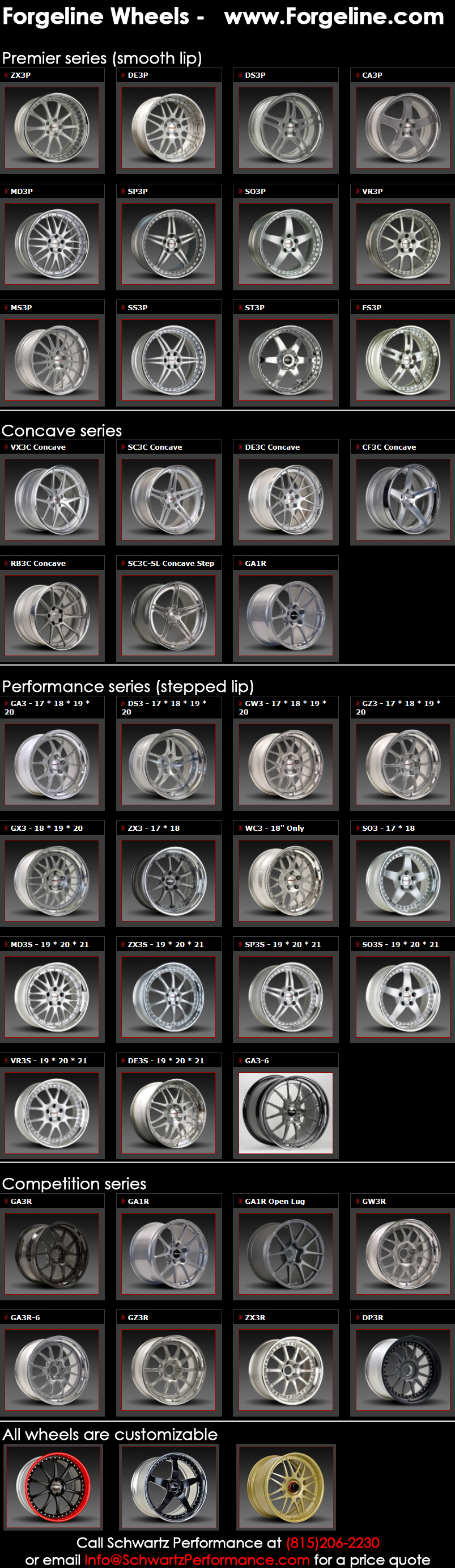 All Forgeline wheels apr13