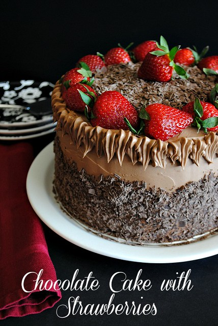 Chocolate cake with strawberry filling | Flickr - Photo Sharing!
