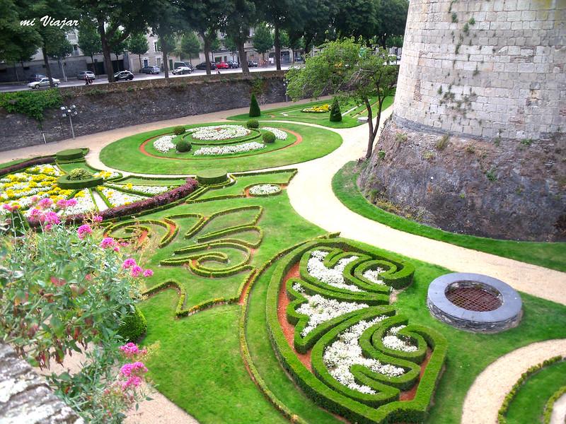 Jardines del castillo de Angers