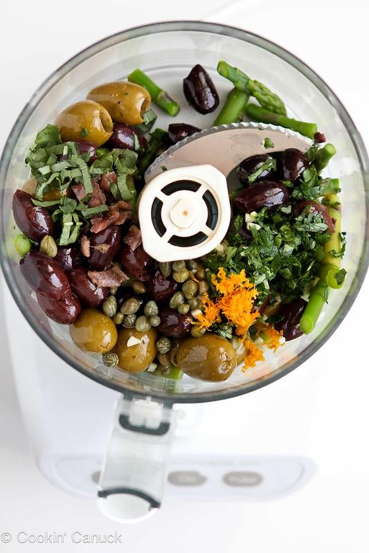 Mini Asparagus & Olive Tapenade Cups Recipe by Cookin' Canuck #recipe #appetizer