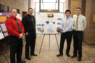 Meritor Axle Carrier Weight Reduction Team with poster