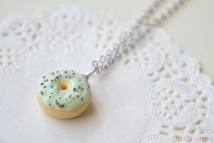 Mint Chocolate Chip Donut Necklace