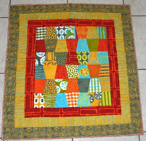 A Stitch in Color Tumbler Quilt