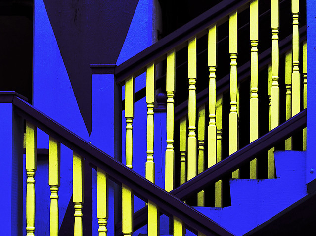 Blue and Yellow Steps