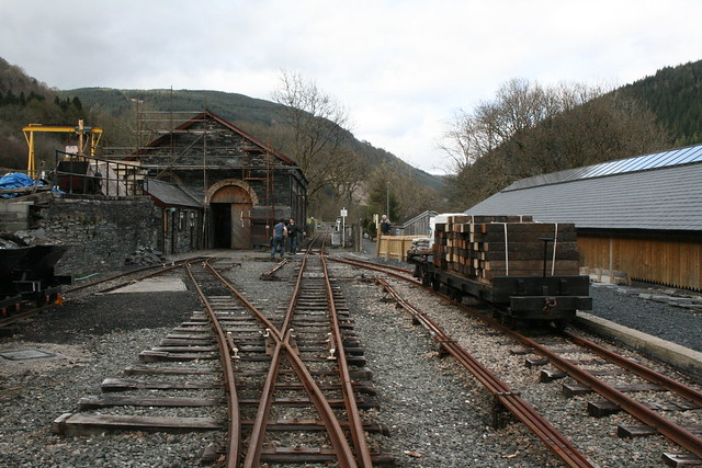 Maespoeth yard on the Corris Railway