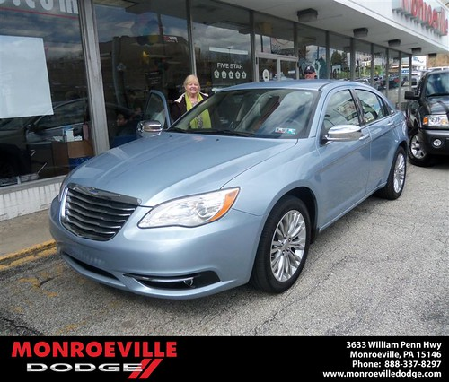 Monroeville Dodge would like to say Congratulations to Nancy Oddo on the 2012 Chrysler 200 by Monroeville Dodge