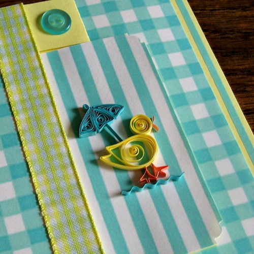Quilled Duck Card Tutorial