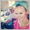 Two workin' girls! Nana is sewing, and I'm working on my laptop. #familytime #workday #morefuntogether