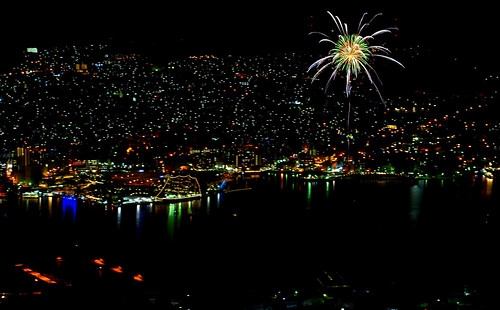 Nagasaki Fireworks from Mount Inasa 稲佐山