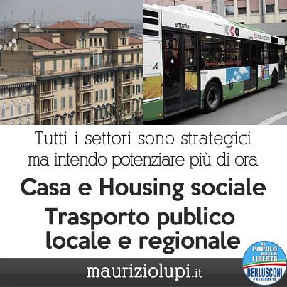 Potenziare Casa Housing Sociale e Trasporto Pubblico Locale