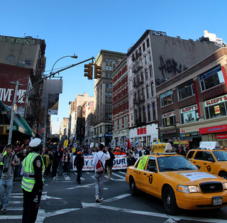 Occupy Wall St. MAYDAY rally crosses Canal Street