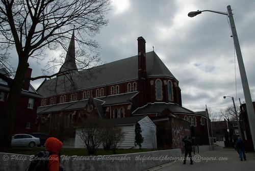 Behind a Church