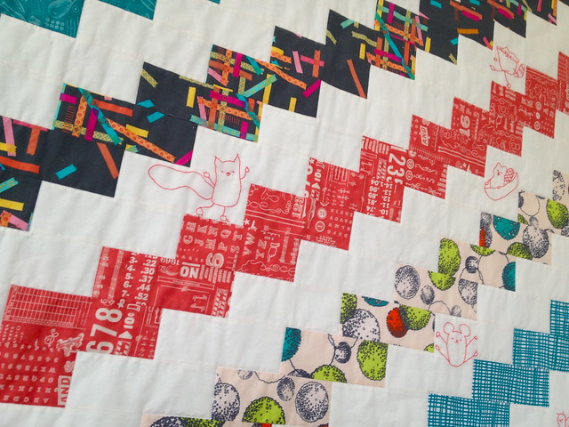 Skipping Steps quilt pattern all done