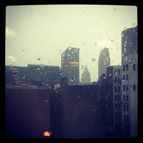 Friday afternoon at 4:15pm, and it starts pouring. #Figures