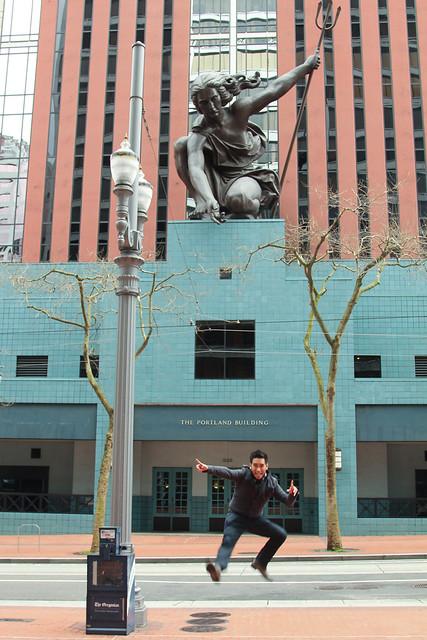 Portlandia statue portland or flickr photo sharing for Garden statues portland oregon