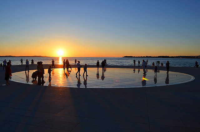 Watching the Sunset in Zadar, Croatia