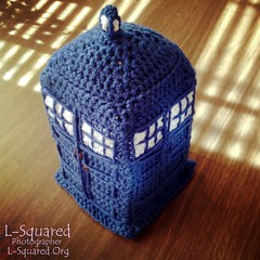 Second TARDIS almost done - all stuffed and sewed together, just needs signs.