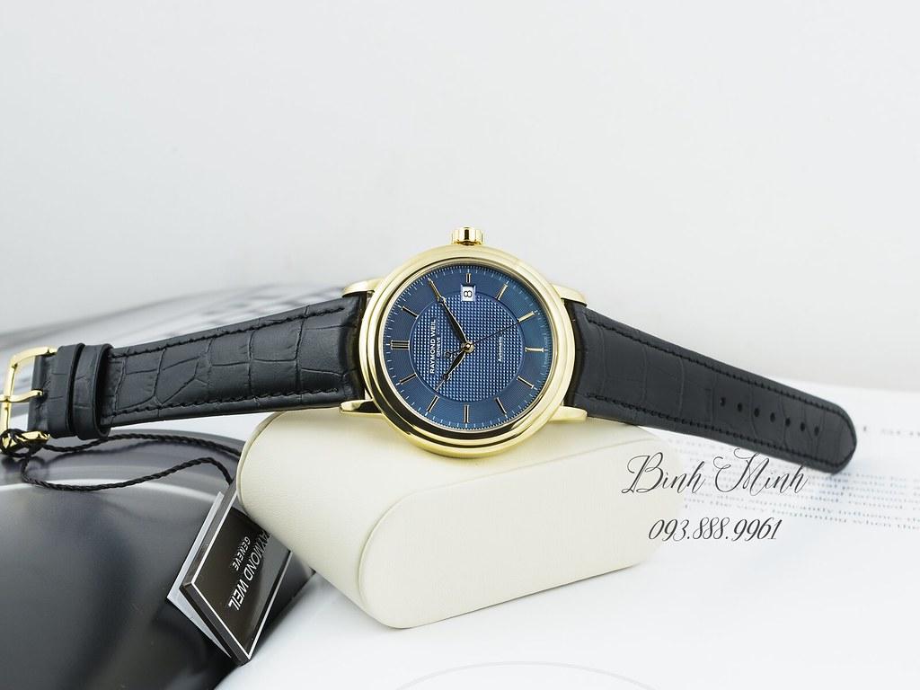 Đồng hồ Raymond Weil Maestro mạ vàng PVD máy automatic, mới 100%, đủ hộp sổ thẻ