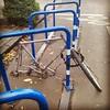 Sad bike.  This was a Shogun Ground Breaker. Now it's just... broken. #bikesspottedpdx #brokenbicycles