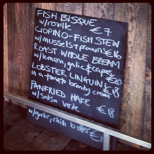 #Menu for opening day lunch at @electriccork's #Fish Bar.