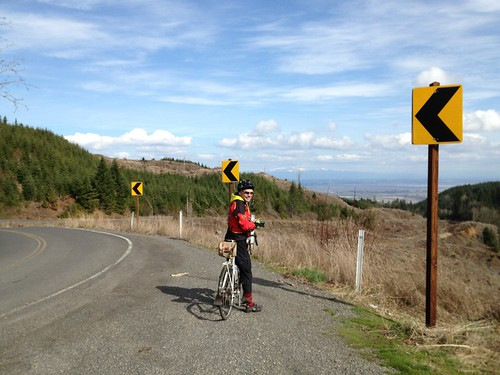 Bill at viewpoint, descending Rocky Point Rd