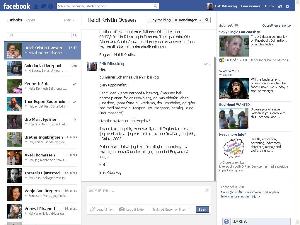 facebook svar