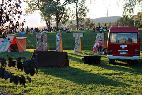 magic hour for #hAbitAt at Canberra's Centennial Birthday