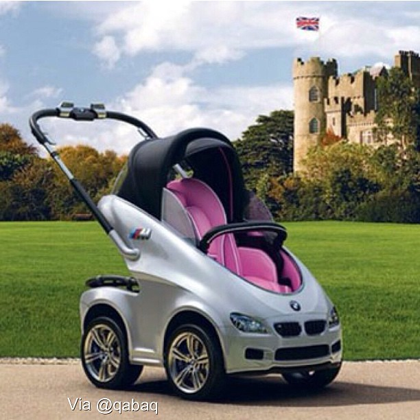 BMW April Fools Joke Self-Propelled Baby Stroller With Air