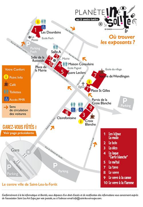 Plan de l'exposition St Leu 2013