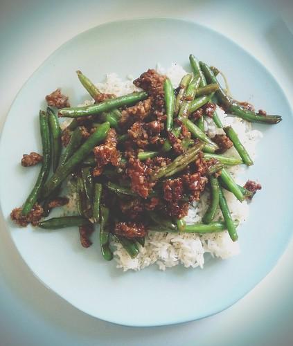 Hoisin Pork and Green Beans