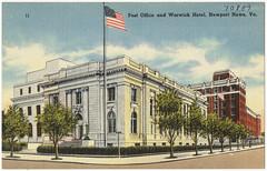 Post office and Warwick Hotel, Newport News, Va.