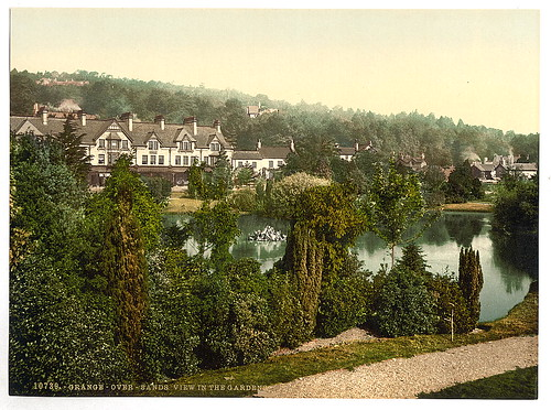 [View in gardens, Grange-over-Sands, England]  (LOC)