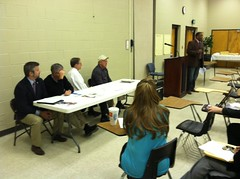 School board members, county commissioner, and state senators hear from people affected by poverty