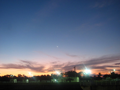 moon sunrise florida stuart crescentmoon stlucielockdam