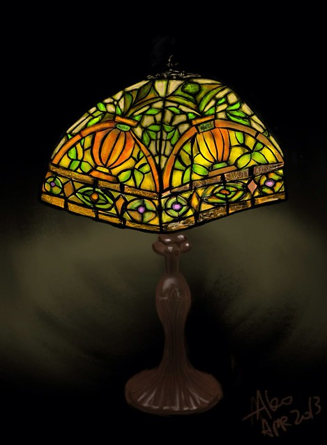 """tiffany lamp"" iPad Art by Ako Lamble"