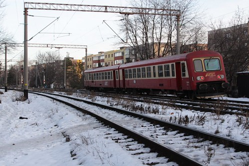 Regiotrans Class 57/97 DMU arrives into Brasov from Zărneşti